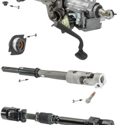 jeep wrangler jk steering column parts [ 976 x 1469 Pixel ]