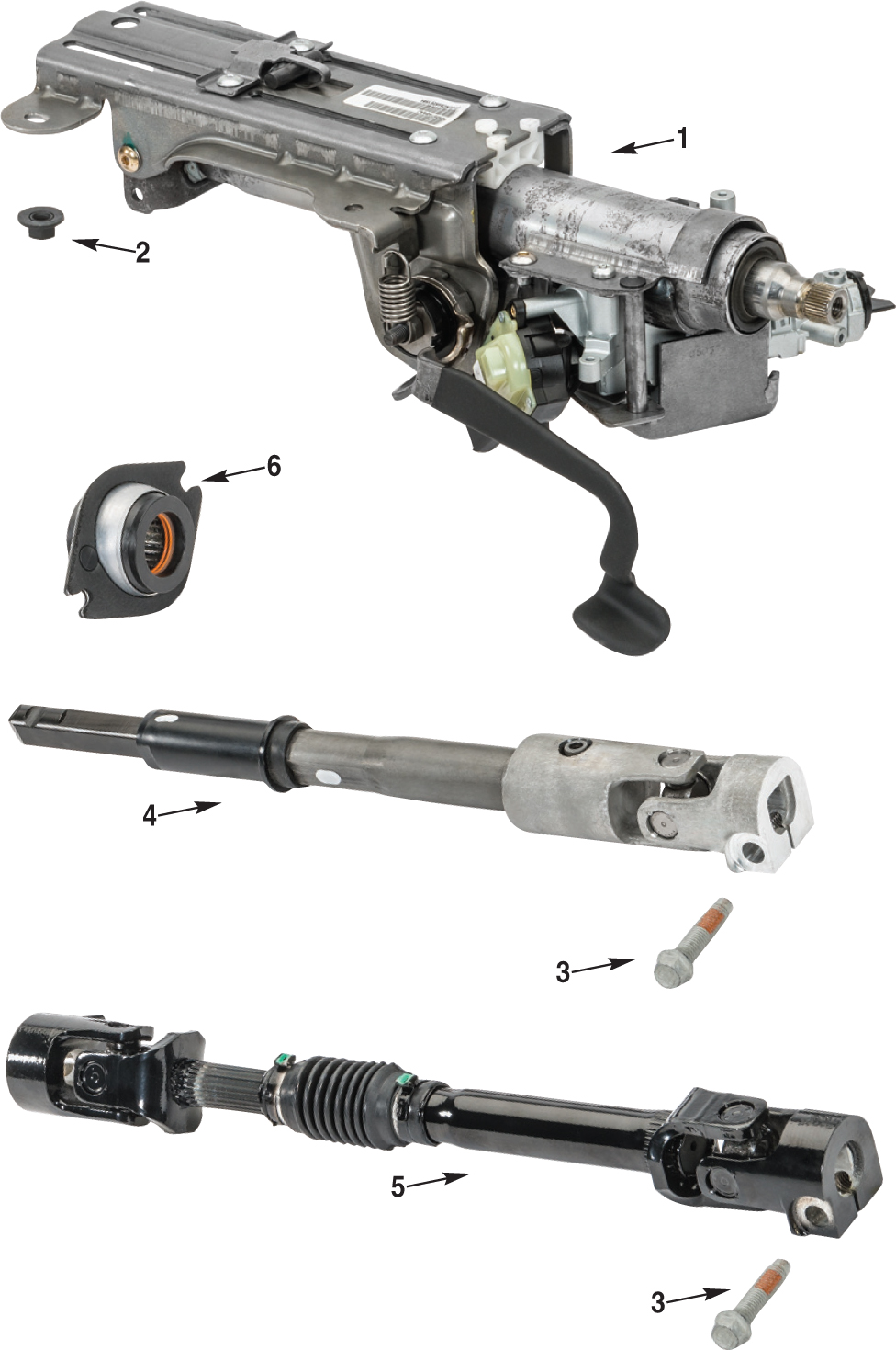 medium resolution of jeep wrangler jk steering column parts