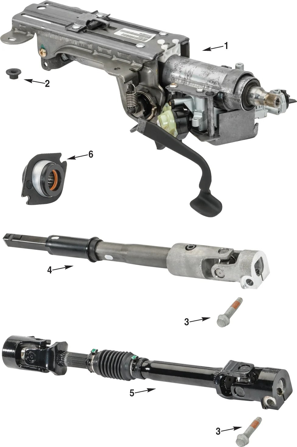 hight resolution of jeep wrangler jk steering column parts