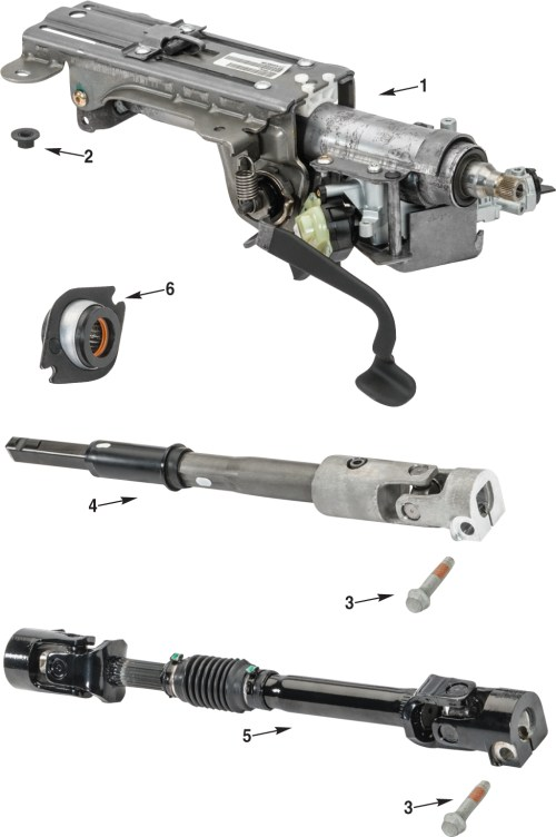 small resolution of jeep wrangler jk steering column parts