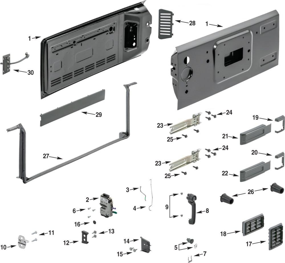 medium resolution of jeep wrangler jk tailgate parts