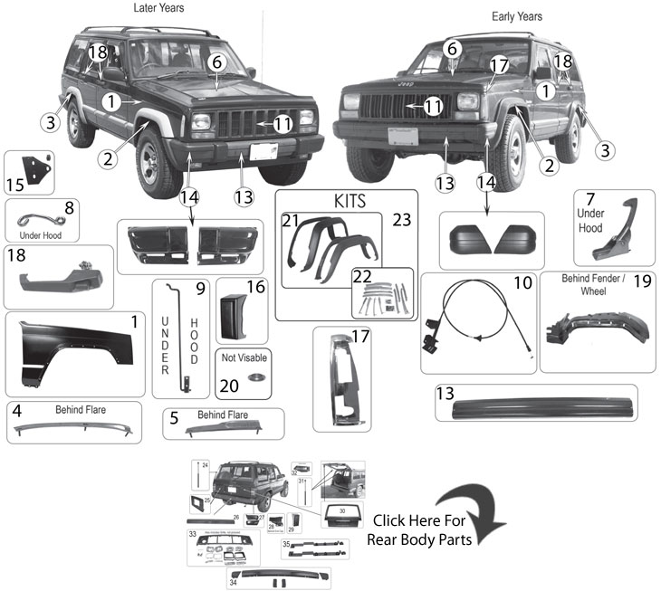 Jeep Exterior Parts Diagram, Jeep, Free Engine Image For