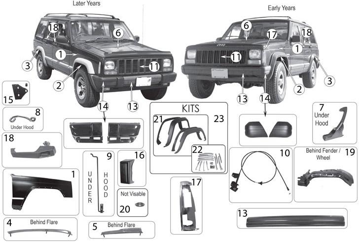 Black Body Side Molding Kit.Chrome Rocker Panels Stainless