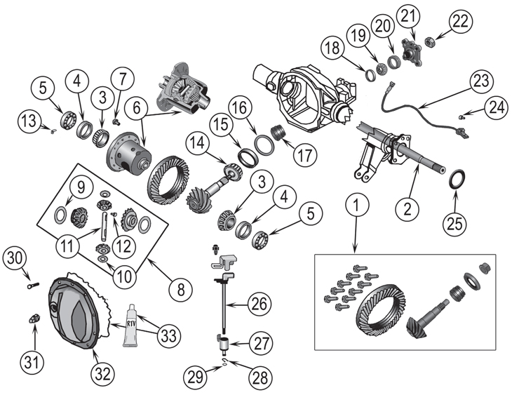Jeep Jk Differential Parts Diagram. Jeep. Auto Wiring Diagram