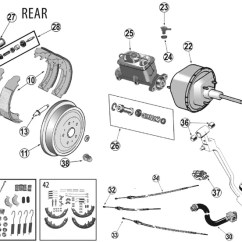 2002 Jeep Liberty Parts Diagram Blank Pyramid 5 Wrangler Yj Rear Brake ('87-'95) | Quadratec
