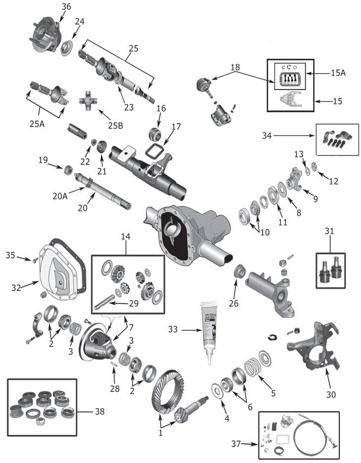 jeep rear axle diagram
