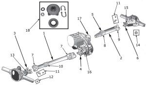 Jeep Wrangler YJ Drive Shaft Parts ('87'95) | Quadratec