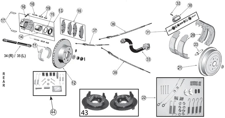[1995 Jeep Cherokee Brake Replacement System Diagram