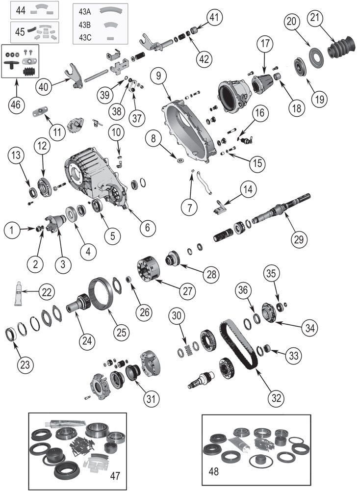 2010 Jeep Commander Wiring Diagram Np242 Replacement Parts 84 07 Grand Cherokee Zj