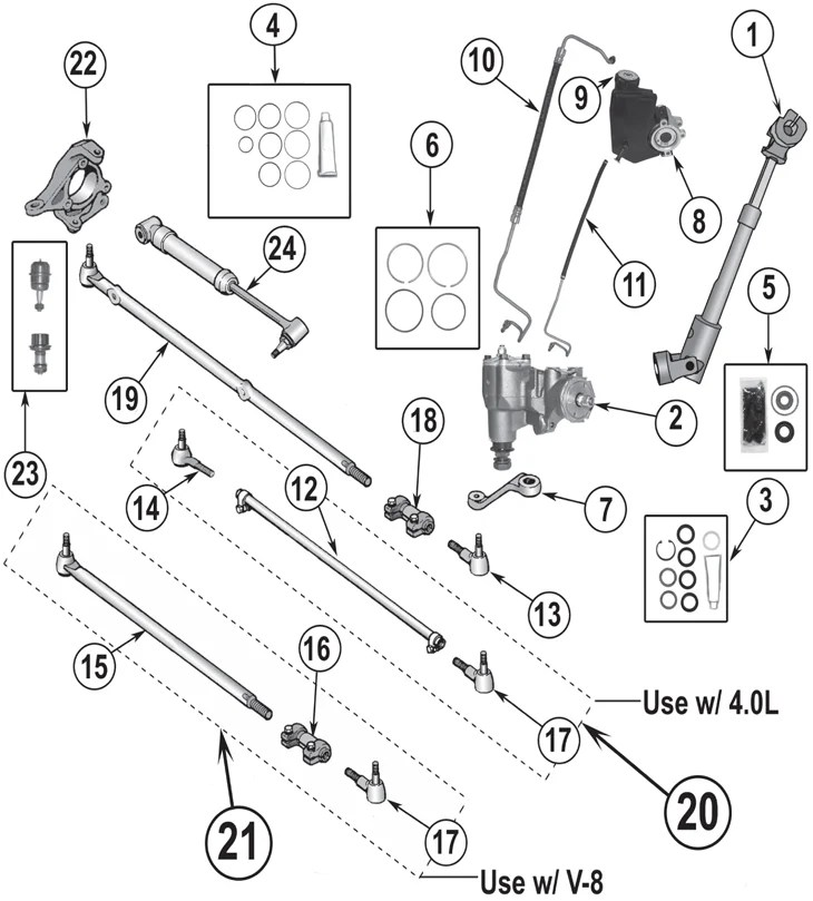 98 Jeep Grand Cherokee Steering Components Diagram, 98