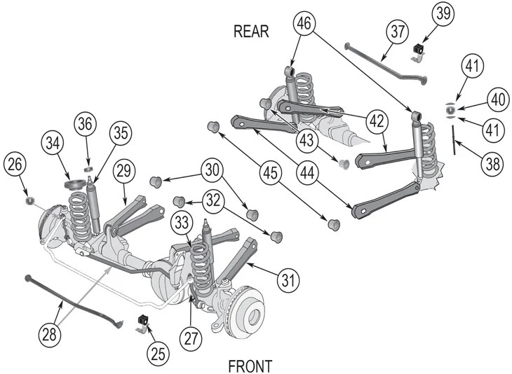 2006 Jeep Liberty Suspension Diagram. Jeep. Auto Wiring