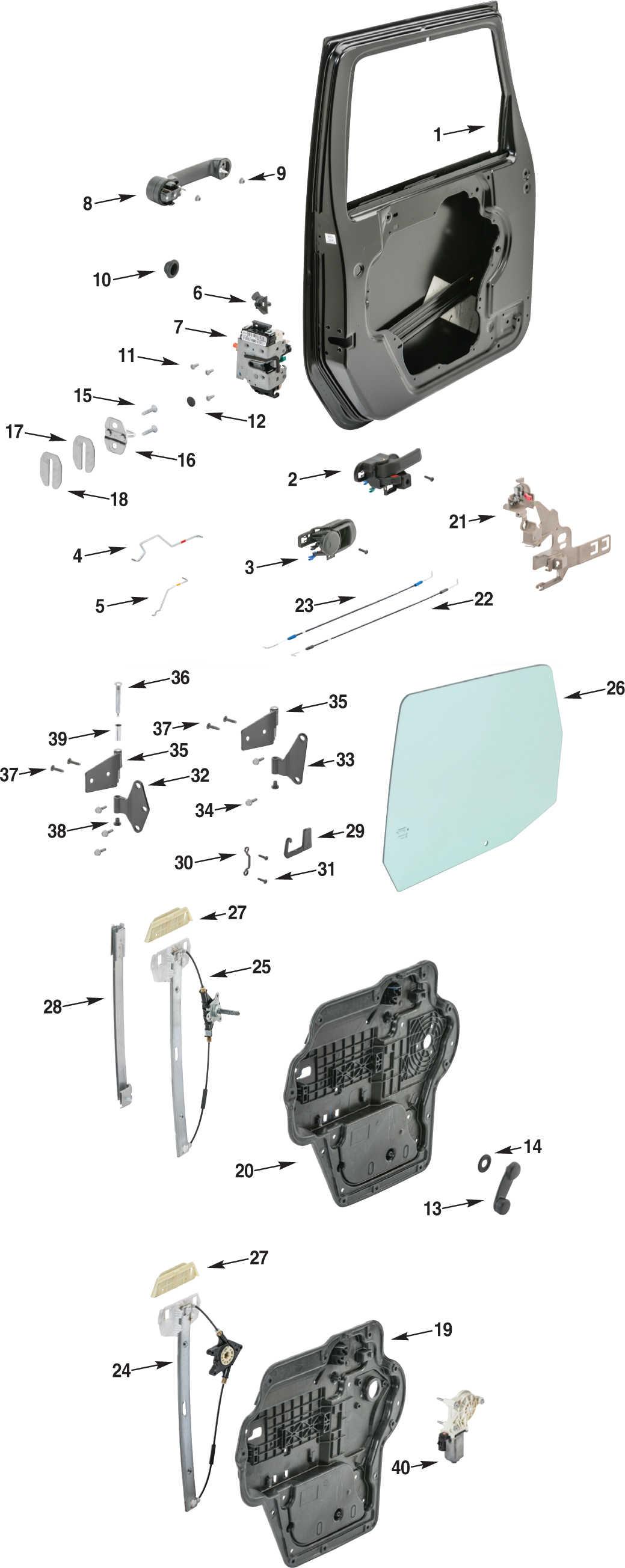2007 jeep wrangler parts diagram 91 crx radio wiring jk front full steel door quadratec