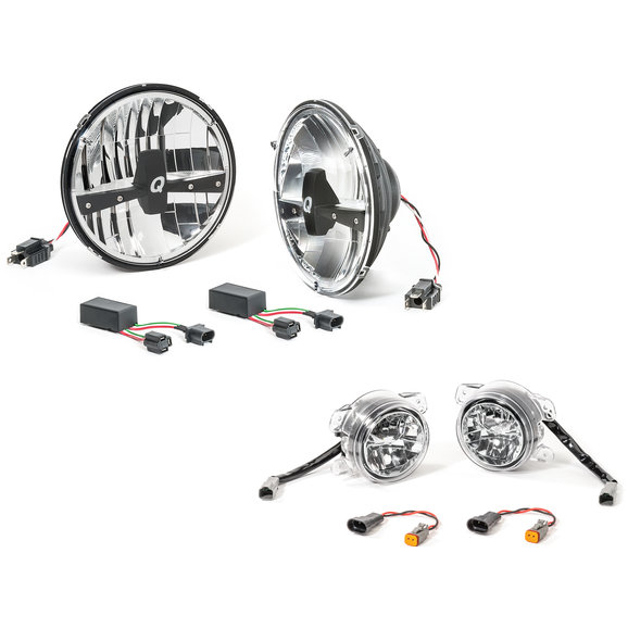 Quadratec® LED Headlamp Upgrade Conversion & LED Fog