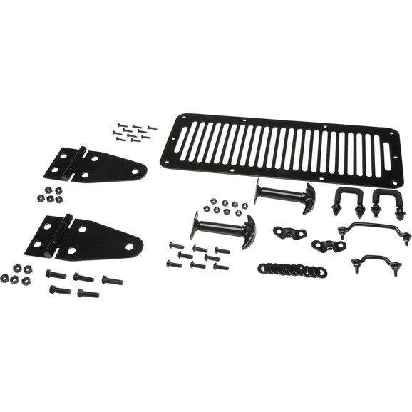 Kentrol Stainless Steel Hood Set for 78-95 Jeep CJ