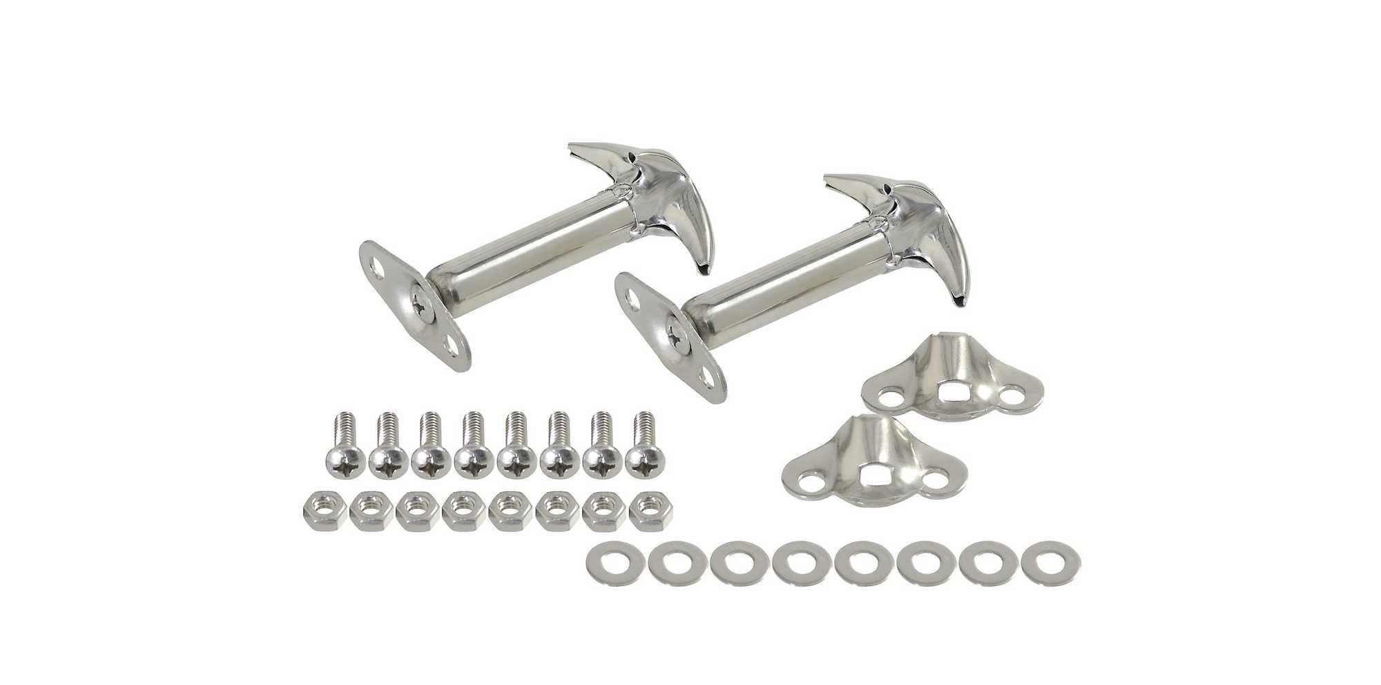 Kentrol Stainless Steel Hood Latch Set for 42-95 Jeep® CJ