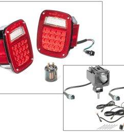 led tail light kit with 2 cube led with wiring harness for 81 86 jeep cj 5 cj 7 cj 8 scrambler [ 2000 x 1325 Pixel ]