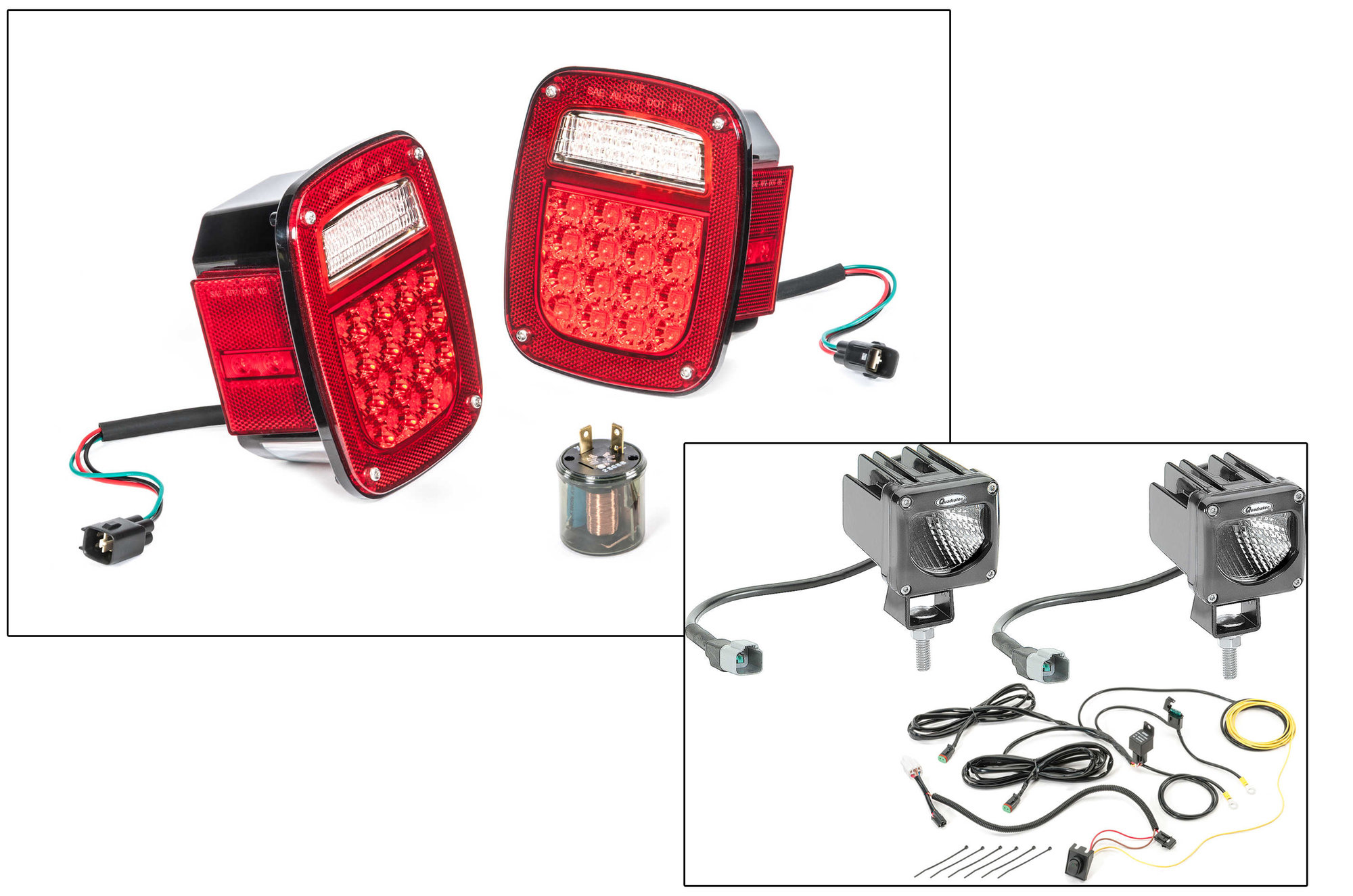 hight resolution of led tail light kit with 2 cube led with wiring harness for 81 86 jeep cj 5 cj 7 cj 8 scrambler