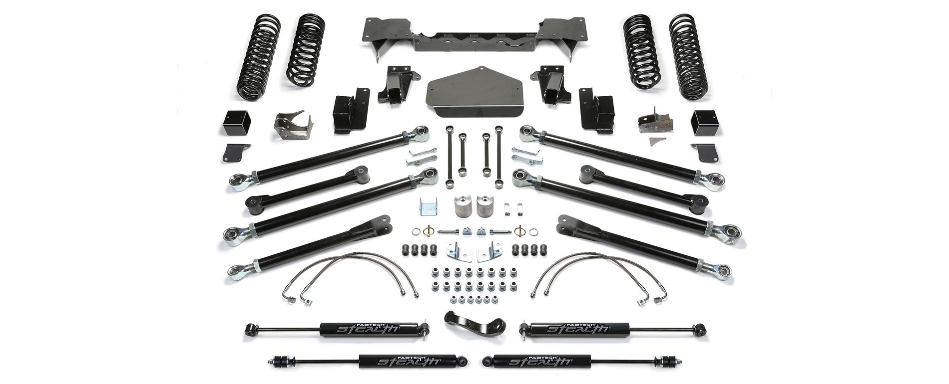 Fabtech 3in Crawler Long Travel Lift Kits for 07-18 Jeep