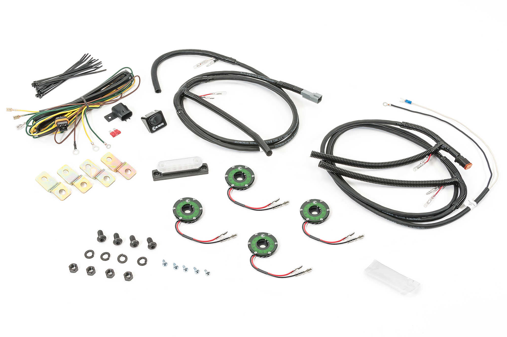 KC HiLiTES Cyclone LED Rock Light Kit for 07-16 Jeep