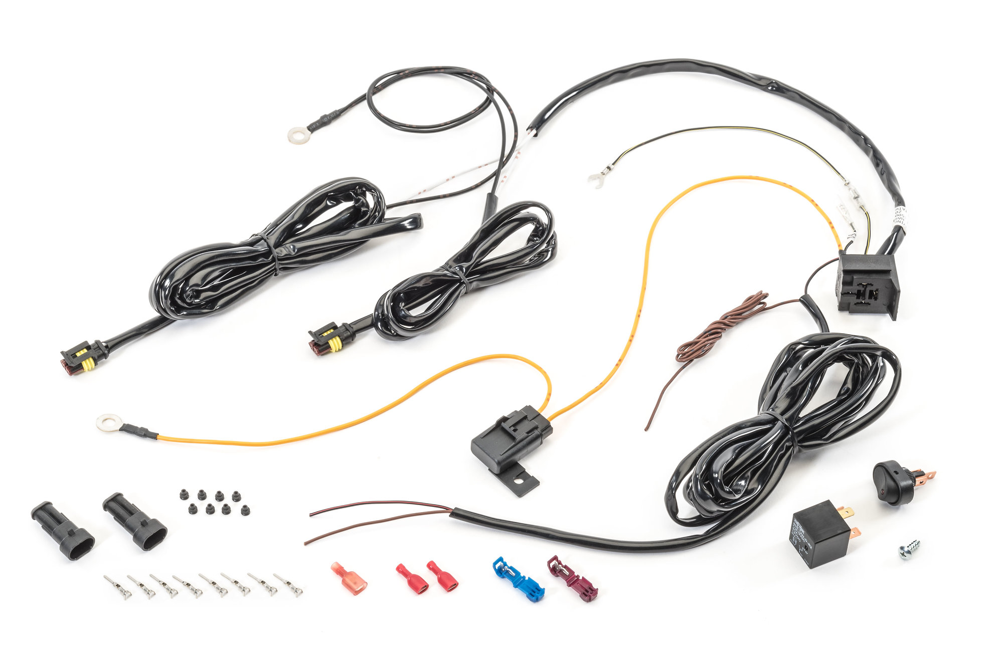 Lightforce La125 Custom Dl 12v Led Light Wiring Harness With Waterproof 4 Pin Connectors