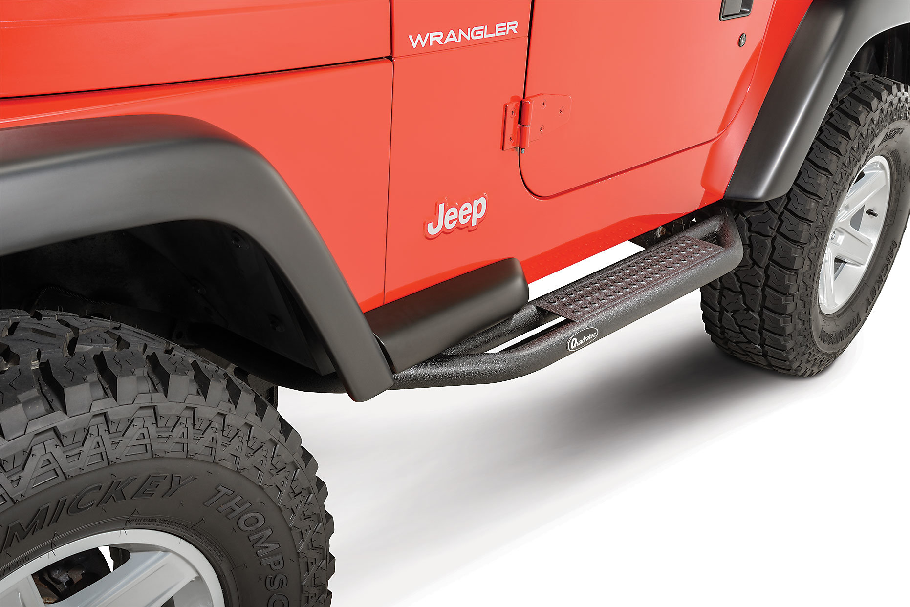 hight resolution of quadratec qrc side armor with step for 87 06 jeep wrangler yj tj