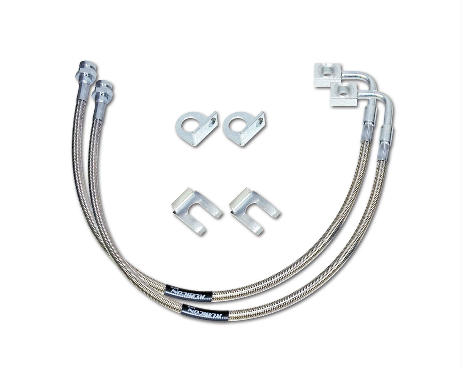 Rubicon Express RE15301 Front Braided Stainless Steel