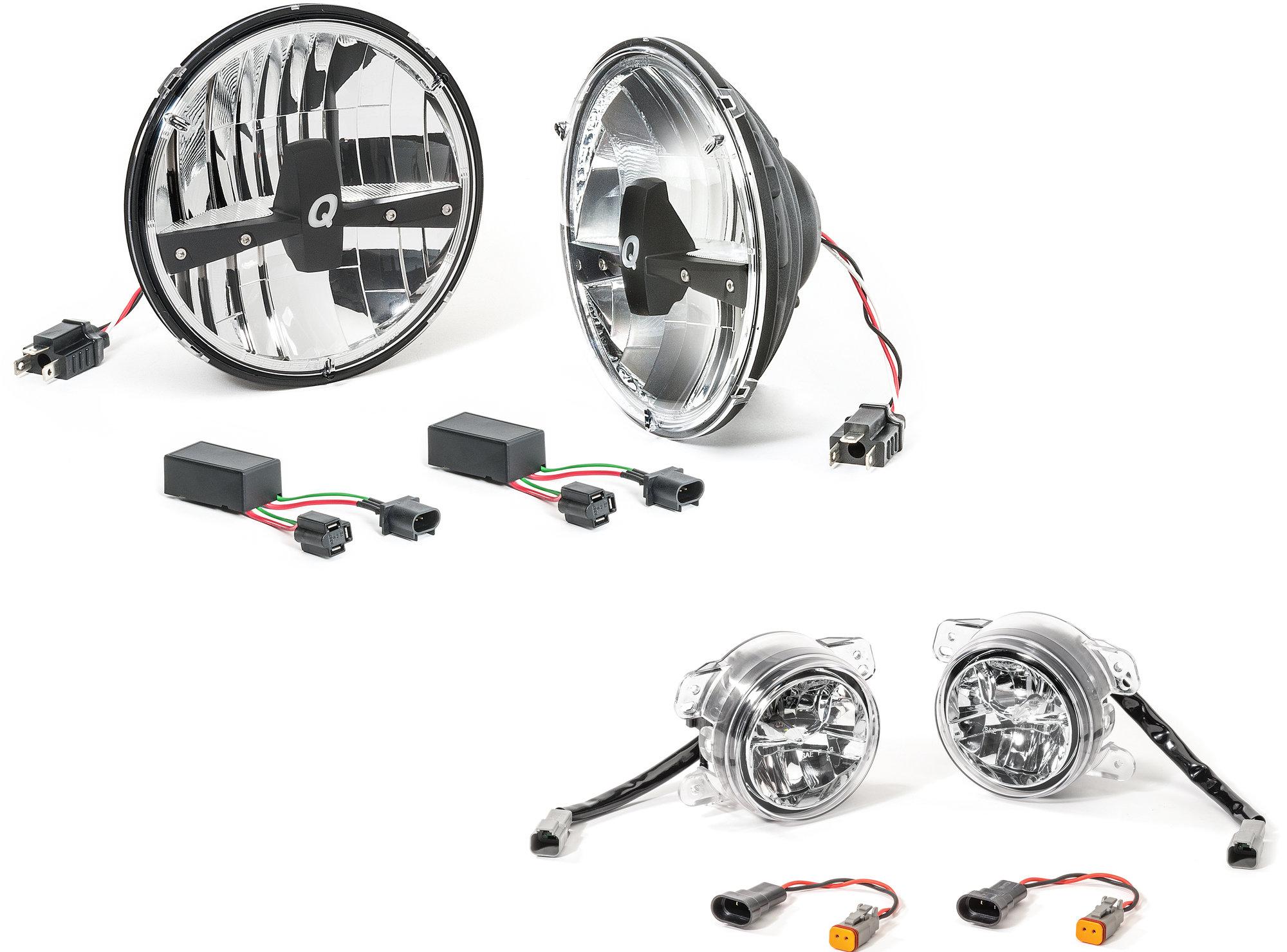 Quadratec LED Headlight Upgrade Conversion & LED Fog