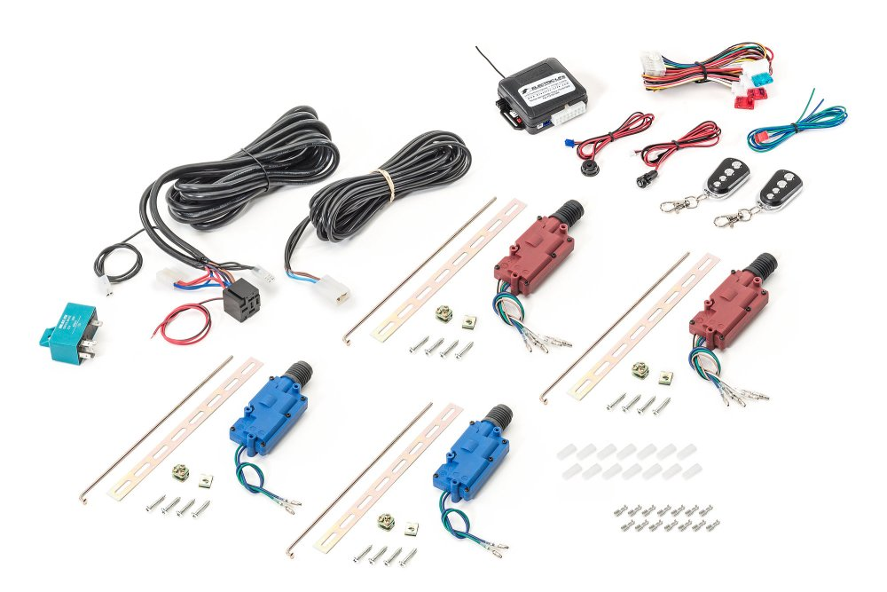 medium resolution of electric life 95338 4 door lock kit with 3 channel keyless entry for 07 18 jeep wrangler unlimited jk quadratec