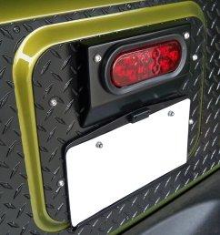 warrior products 1562 center tailgate mount license plate bracket for 07 18 jeep wrangler jk quadratec [ 1990 x 2000 Pixel ]