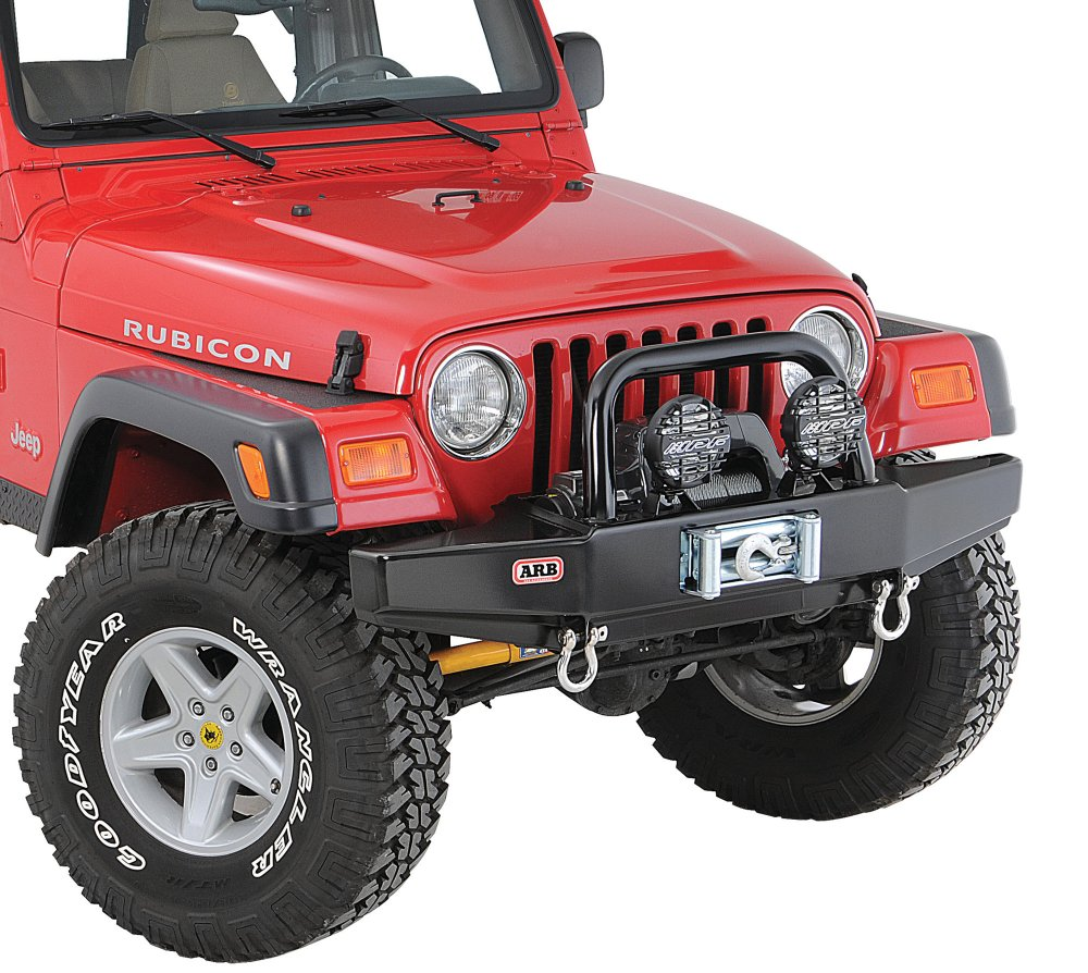 medium resolution of arb 3450150 quadratec edition front stubby bull bar bumper for 87 06 jeep wrangler yj tj unlimited quadratec
