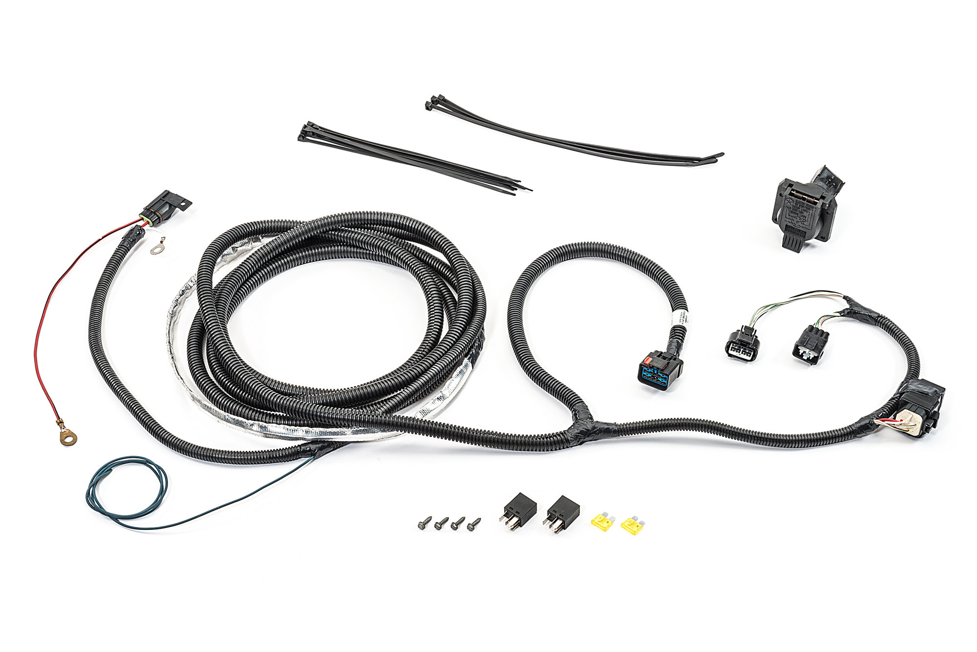 Mopar Ab 7 Way Round Hitch Wiring Harness For 05 06 Jeep Grand Cherokee Wk
