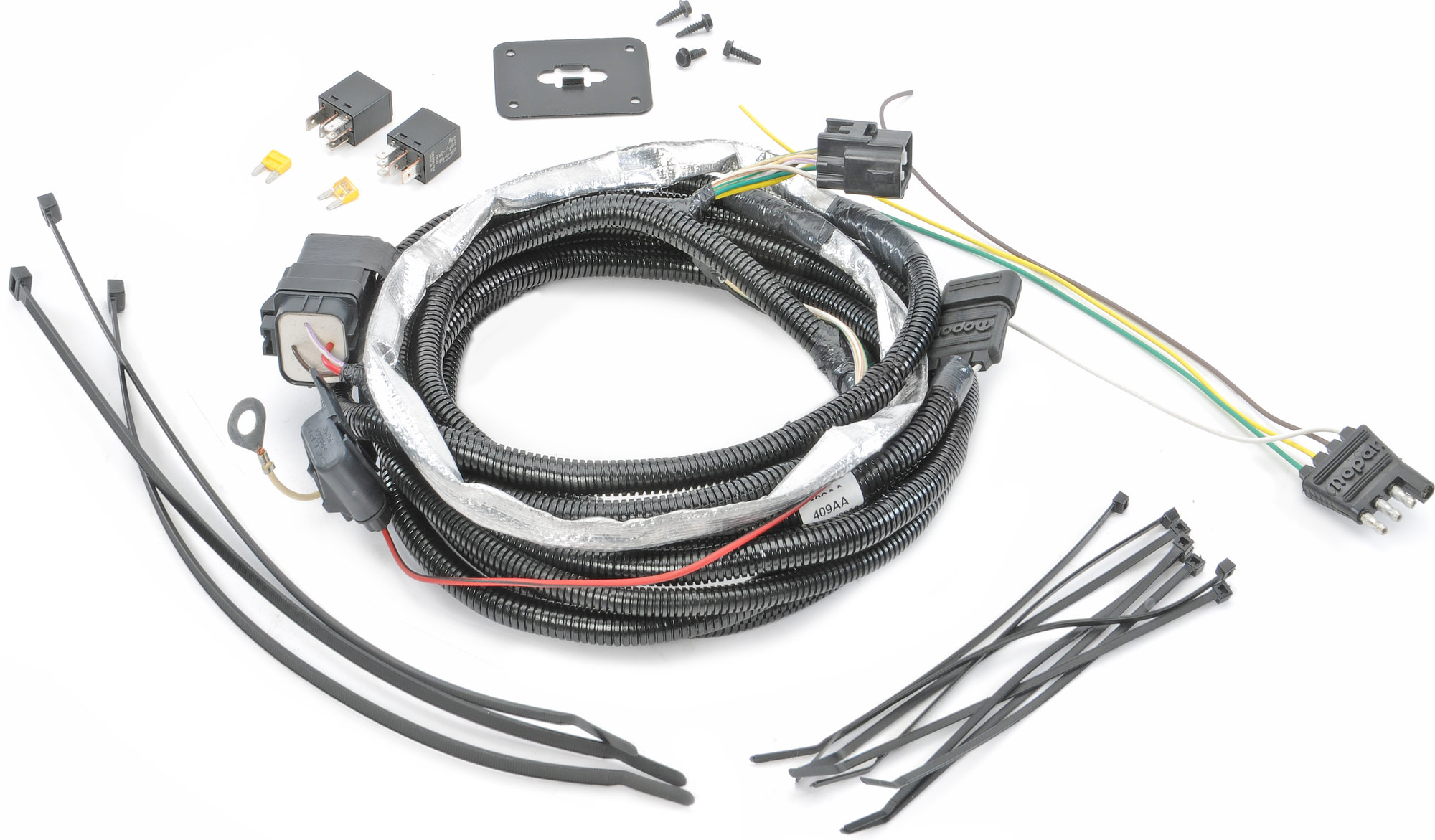 Mopar 82209770AB 4-Way Flat Hitch Wiring Harness for 05-06