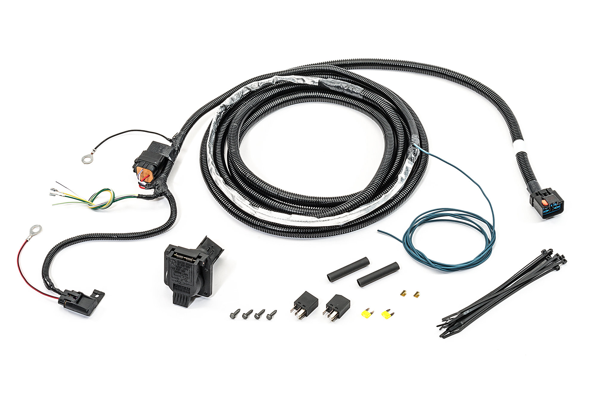 Mopar 82211150AC 7-Way Round Hitch Wiring Harness for 07