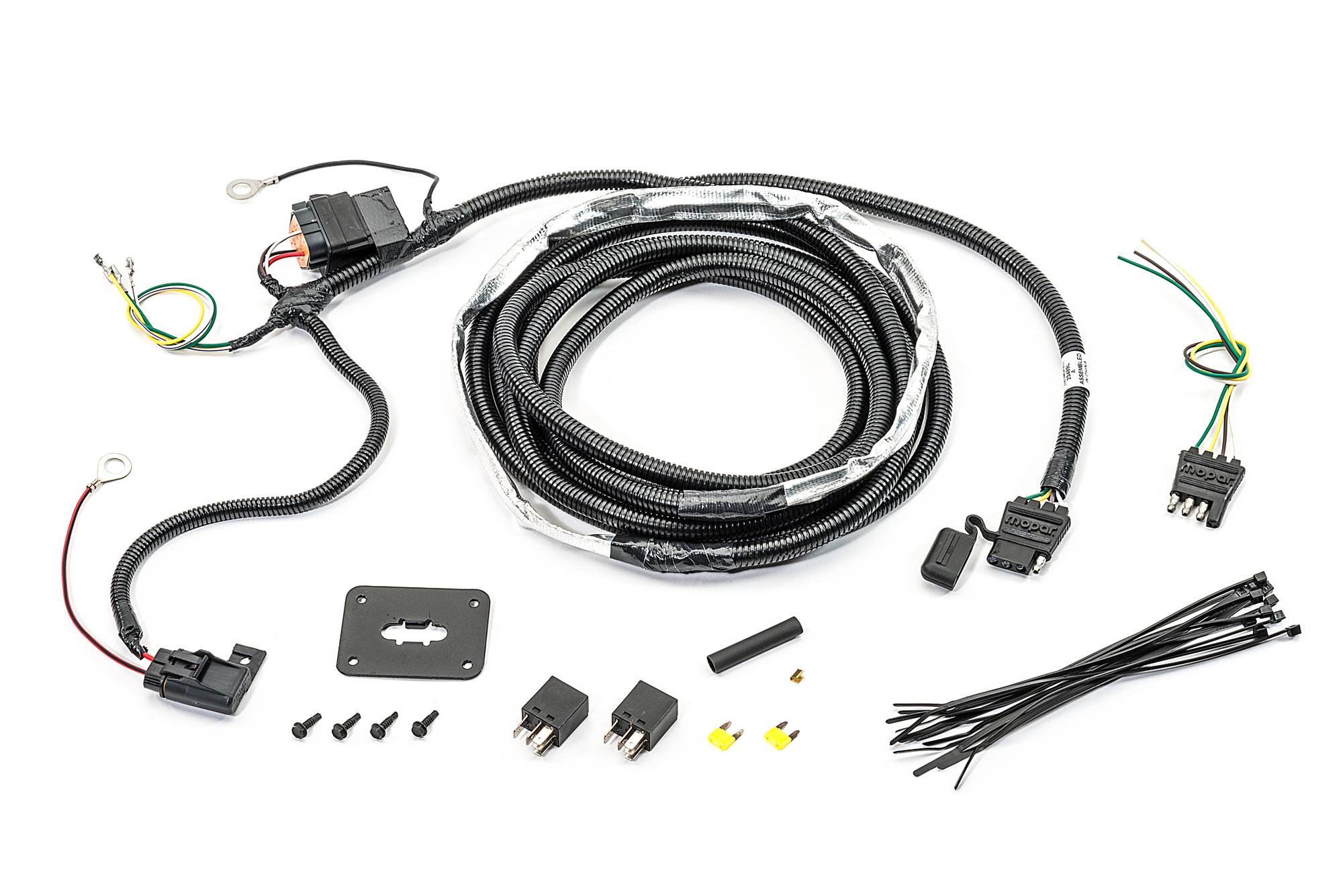 hight resolution of mopar 82211149ad 4 way flat hitch wiring harness for 07 09 jeep grand cherokee wk quadratec