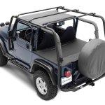 Smittybilt 76715 Smi Src Roof Rack In Textured Black For 04 06 Jeep Wrangler Tj Unlimited Quadratec