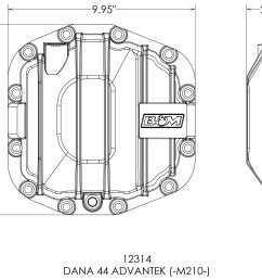 b m racing nodular iron front differential cover 18 19 jeep wrangler jl rubicon unlimited 4 door with dana 44 front axle quadratec [ 2000 x 1689 Pixel ]