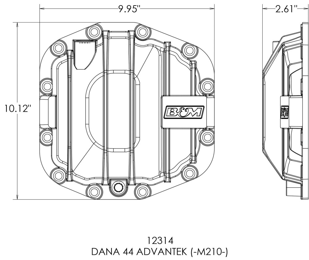 medium resolution of b m racing nodular iron front differential cover 18 19 jeep wrangler jl rubicon unlimited 4 door with dana 44 front axle quadratec