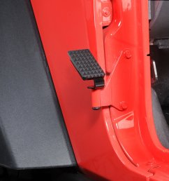 realwheels drivers side foot rest for 07 18 jeep wrangler jk [ 1429 x 949 Pixel ]