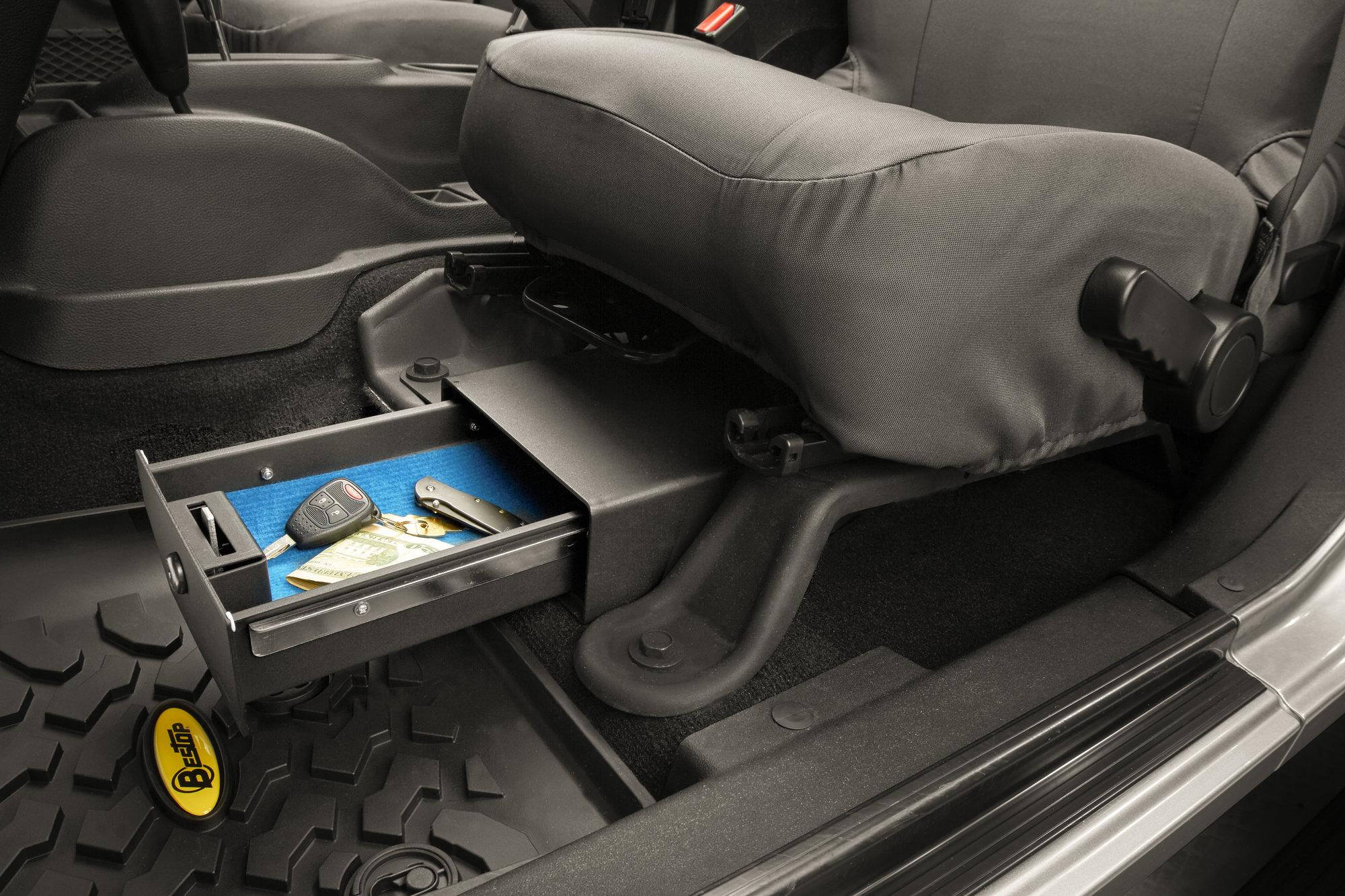 1996 Jeep Cherokee Speaker Wiring Bestop 174 42640 01 Locking Under Seat Storage Box For