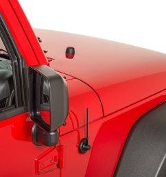 ami stubbie antenna kit with black finish for 07 18 jeep wrangler jk [ 2000 x 1335 Pixel ]