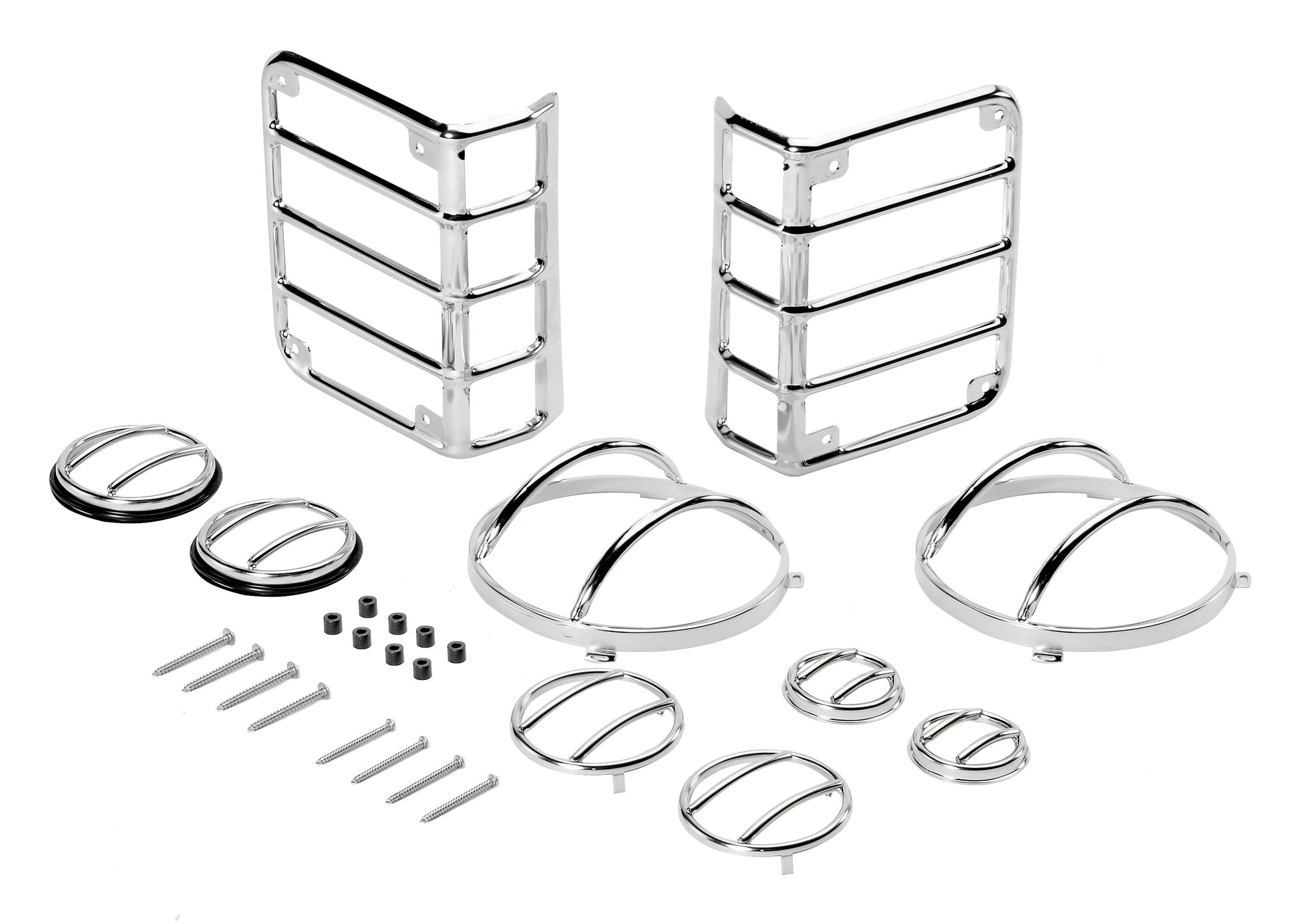 Rugged Ridge 10 Piece Euro Guard Light Kit for 07-18 Jeep