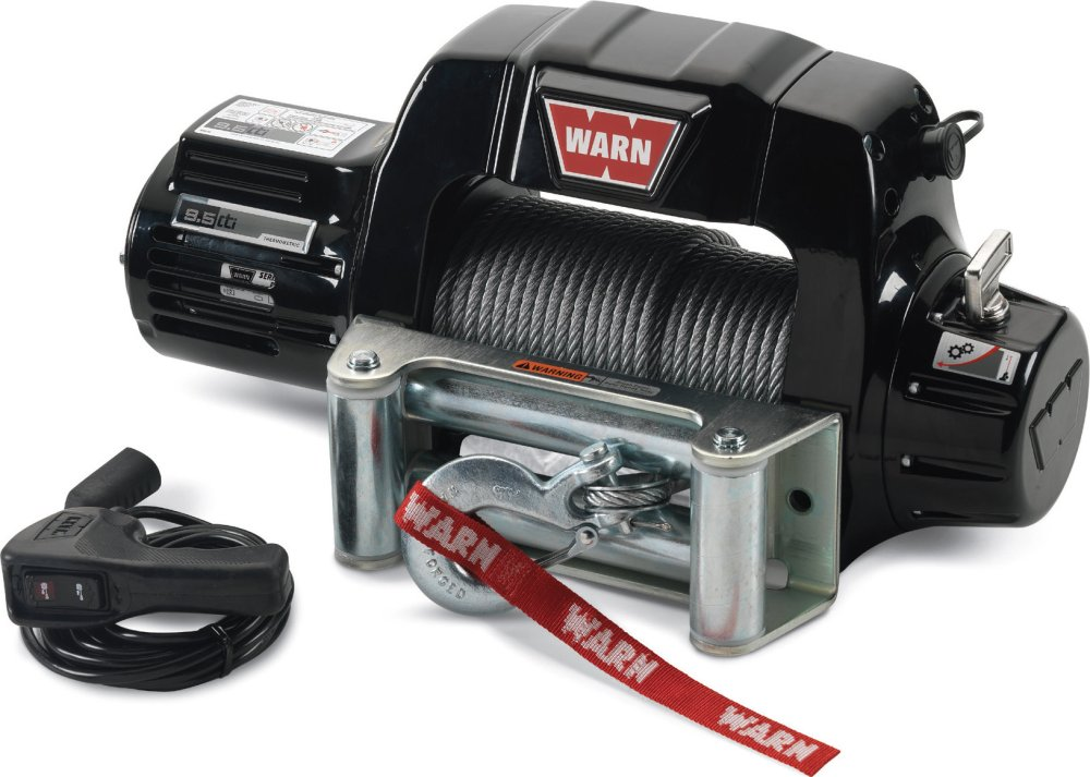 medium resolution of warn 97550 9 5cti contactor equipped winch with 125 wire rope and roller fairlead quadratec