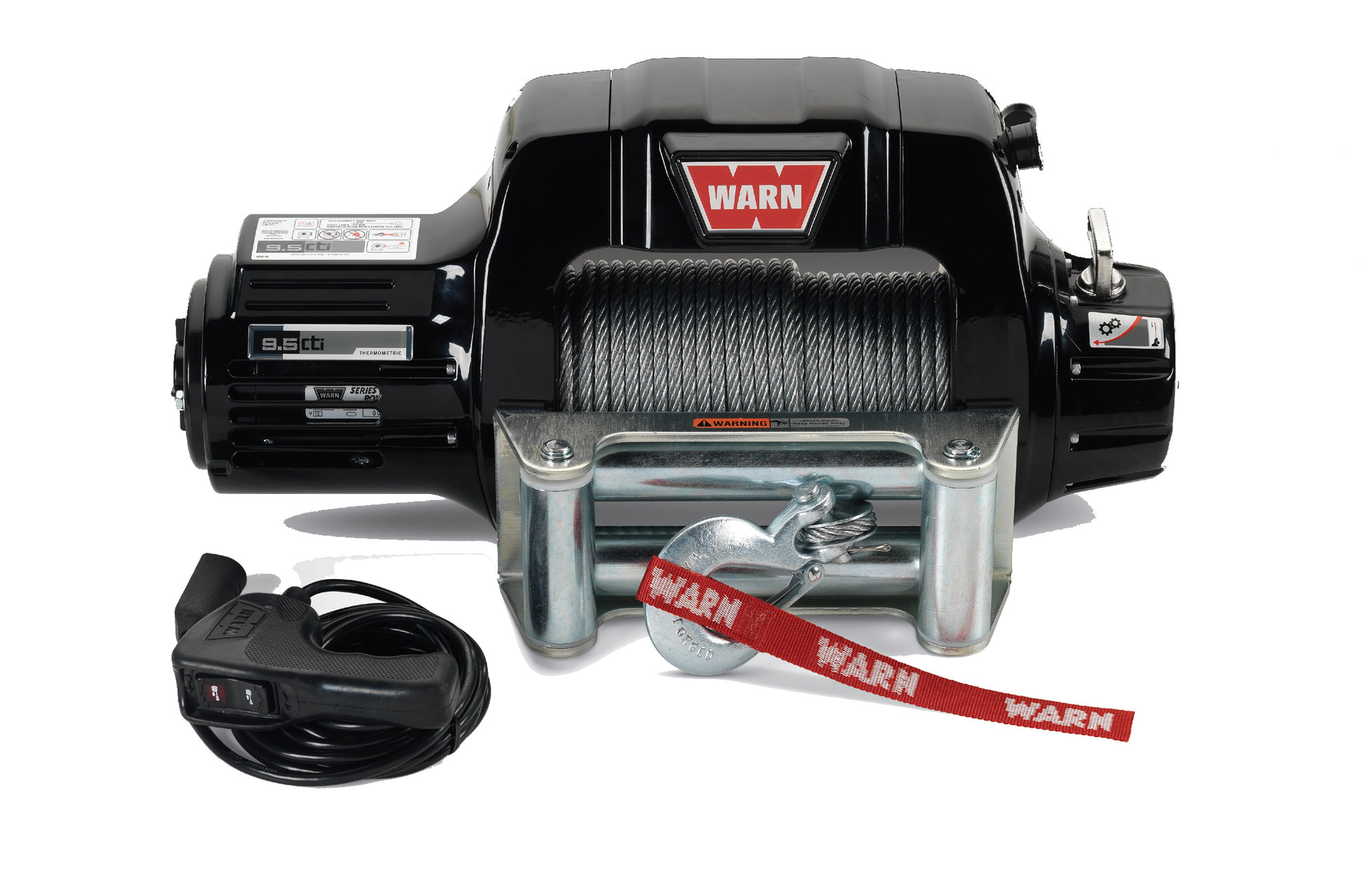 hight resolution of warn 97550 9 5cti contactor equipped winch with 125 wire rope and roller fairlead quadratec