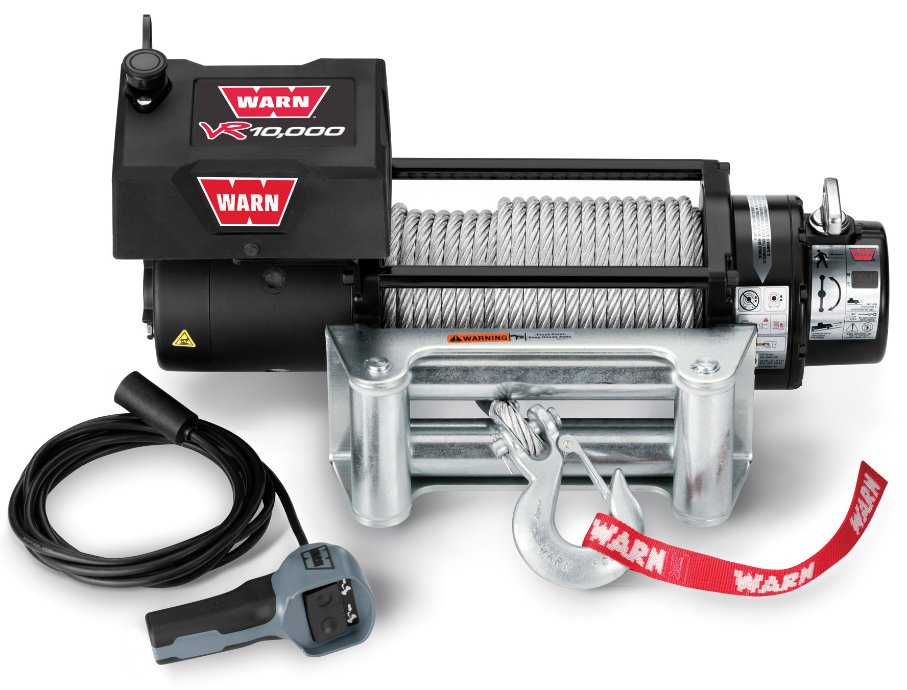 warn winch wiring diagram a2000 2004 chevy venture radio 86255 vr10000 with 94 39 wire rope and roller