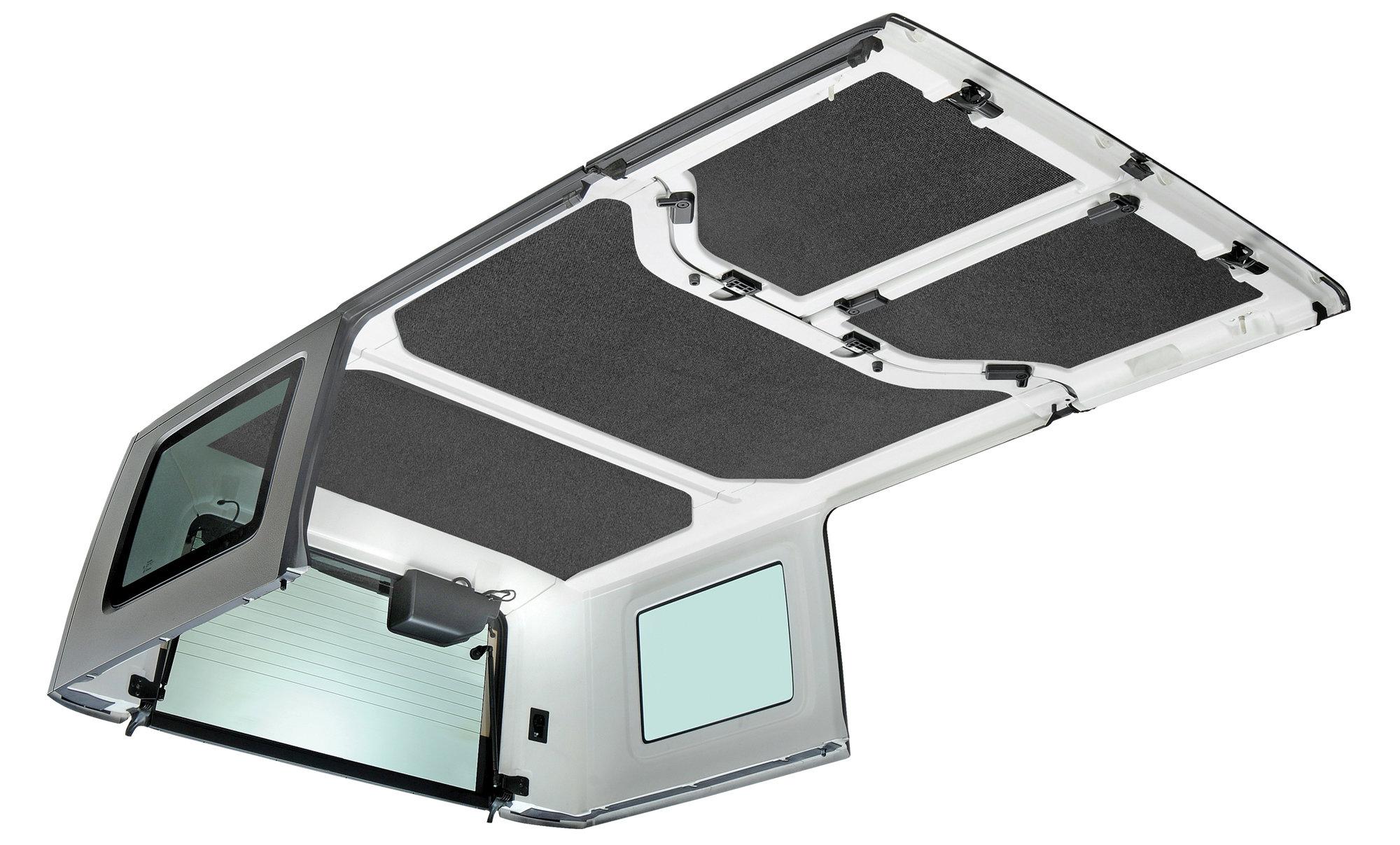 hight resolution of boom mat hardtop sound deadening headliner for 11 18 jeep wrangler unlimited jk 4 door quadratec