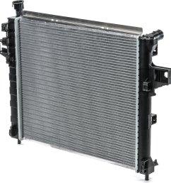 csf 3117 oe replacement radiator with plastic tank aluminum core for 99 04 jeep grand cherokee wj 4 7l quadratec [ 1629 x 1666 Pixel ]