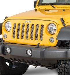 rugged ridge mesh grille insert for 07 18 jeep wrangler jk [ 2000 x 1335 Pixel ]