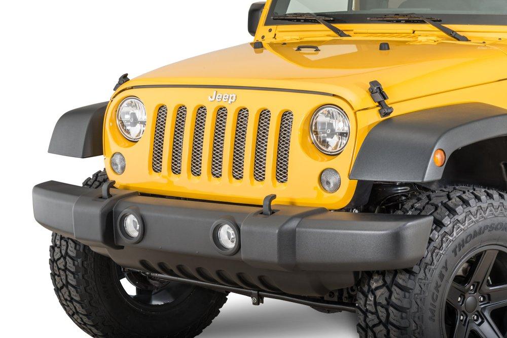 medium resolution of rugged ridge mesh grille insert for 07 18 jeep wrangler jk