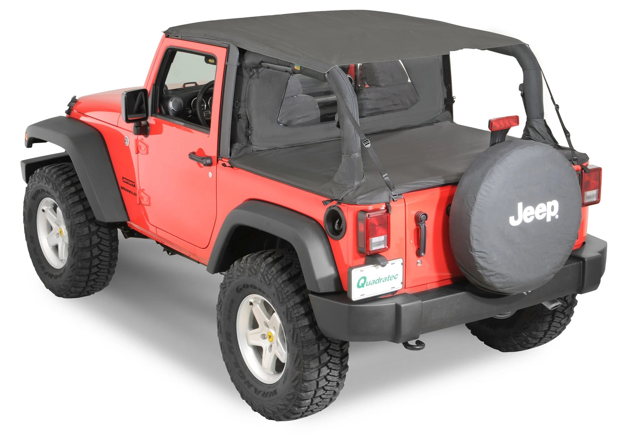 hight resolution of quadratop bimini top plus clearview windstopper tonno cover combo in black diamond for 07 18 jeep wrangler jk 2 door