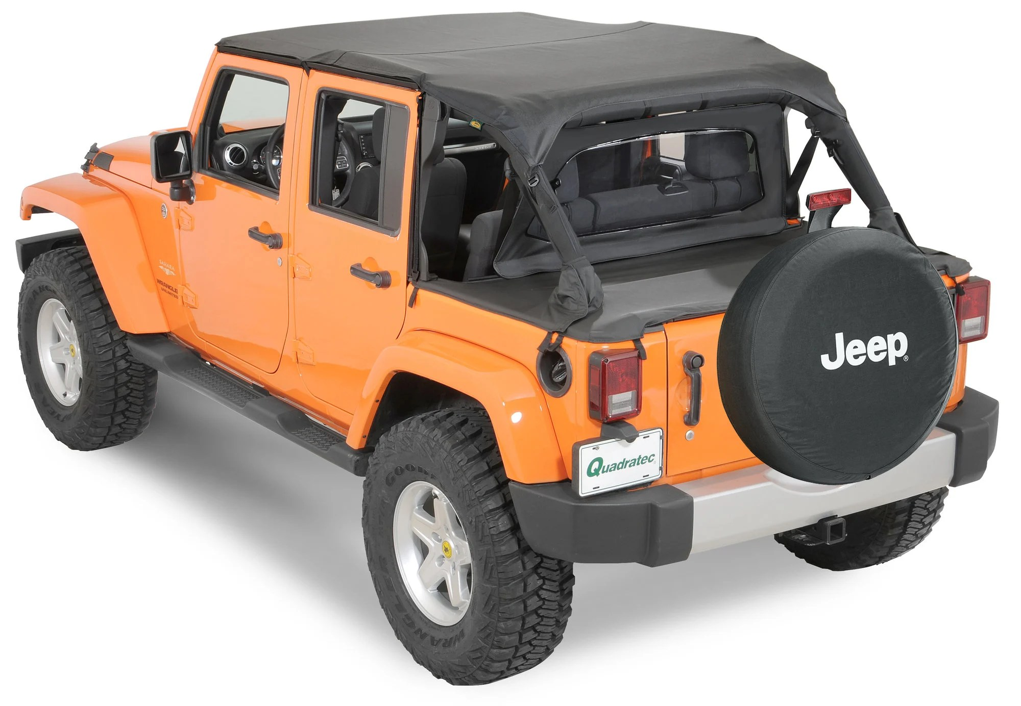 hight resolution of quadratop bimini top plus clearview windstopper tonno cover combo in black diamond for 07 18 jeep wrangler unlimited jk 4 door
